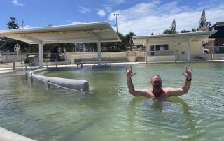 Jason Swimming at Kings Beach